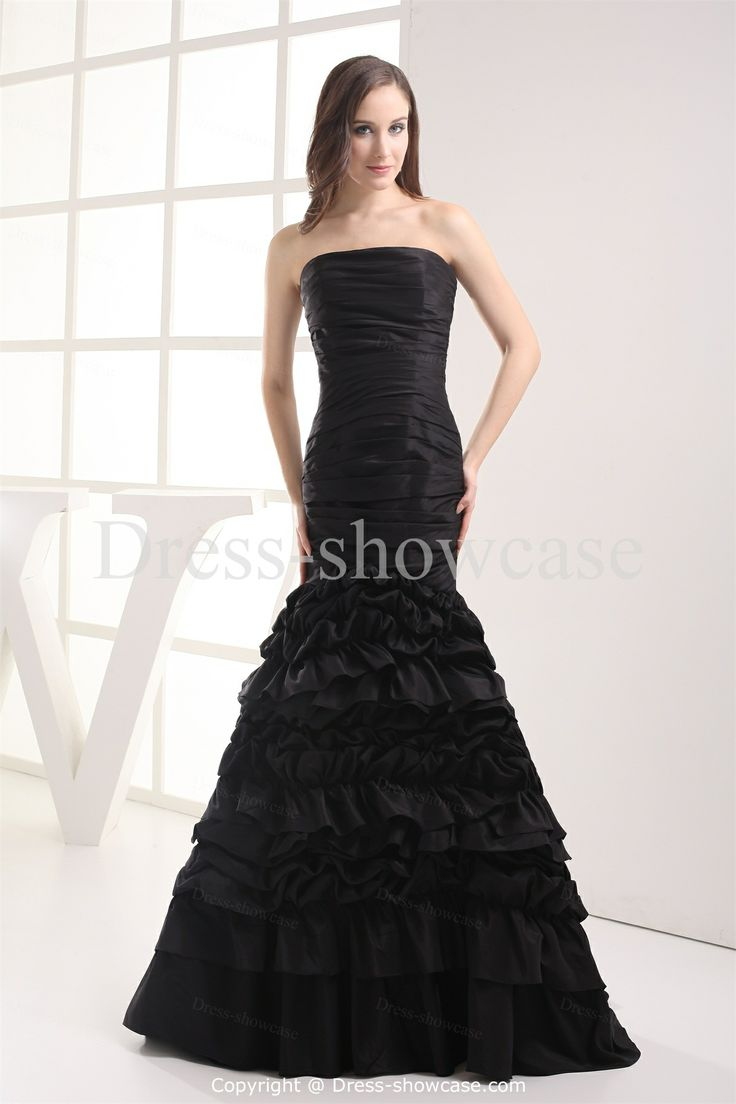 Black ball gown dresses home special occasion dresses for Black mermaid wedding dresses