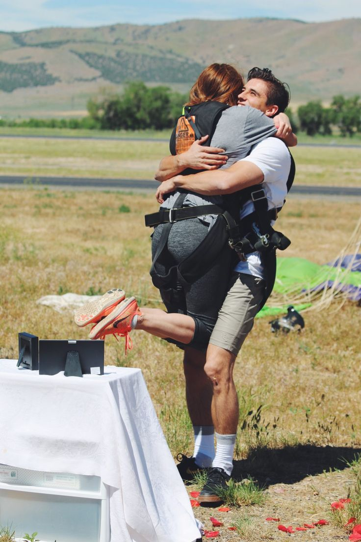 Emily's Proposal in Skydive the Wasatch - Nephi, Utah