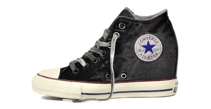 scarpe donna all star converse con zeppa