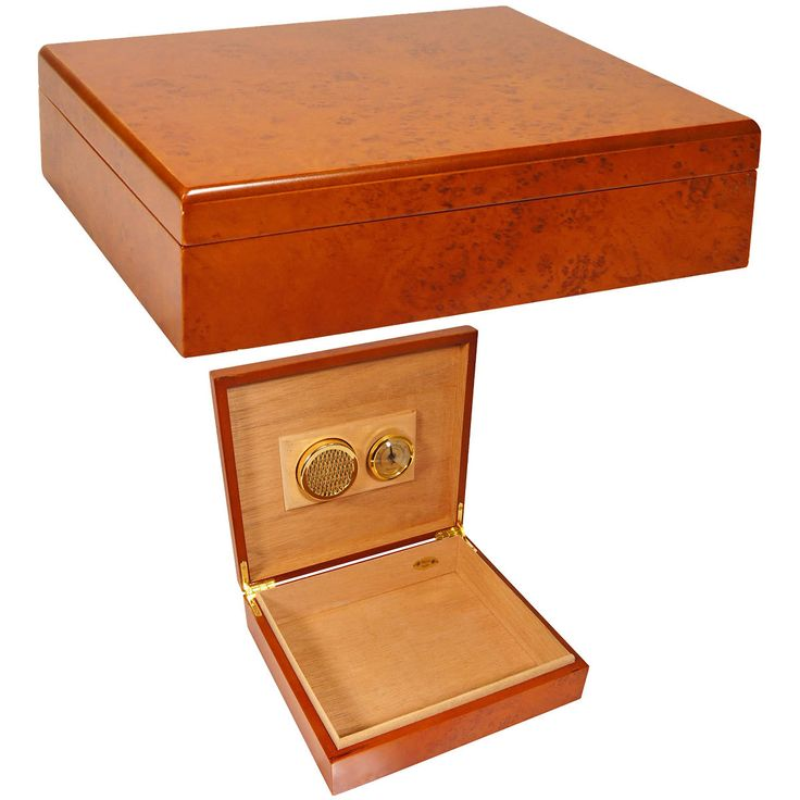Cheap Humidors EL MIO Cigar Humidor has a Burl wood finish, a Spanish cedar interior and is on sale - $20