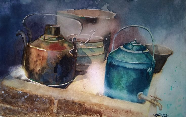 Cocina, Hacienda San Agustín, Ninhue, Chile. #Watercolors