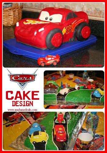 Fun Cake Designs: Cars Cake Decorating Ideas #birthdaycake #cakedesigns
