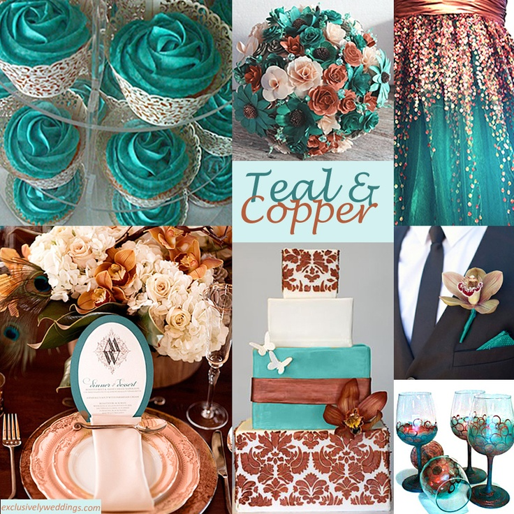 #teal and #copper wedding #inspiration