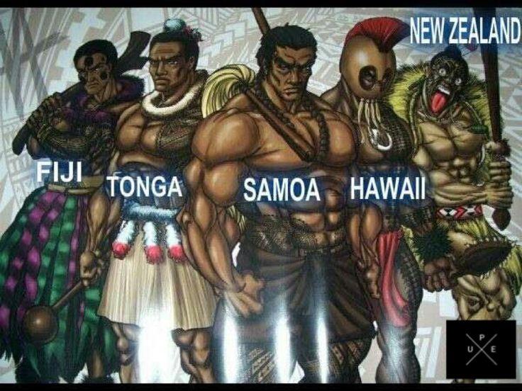 Polynesian warriors.