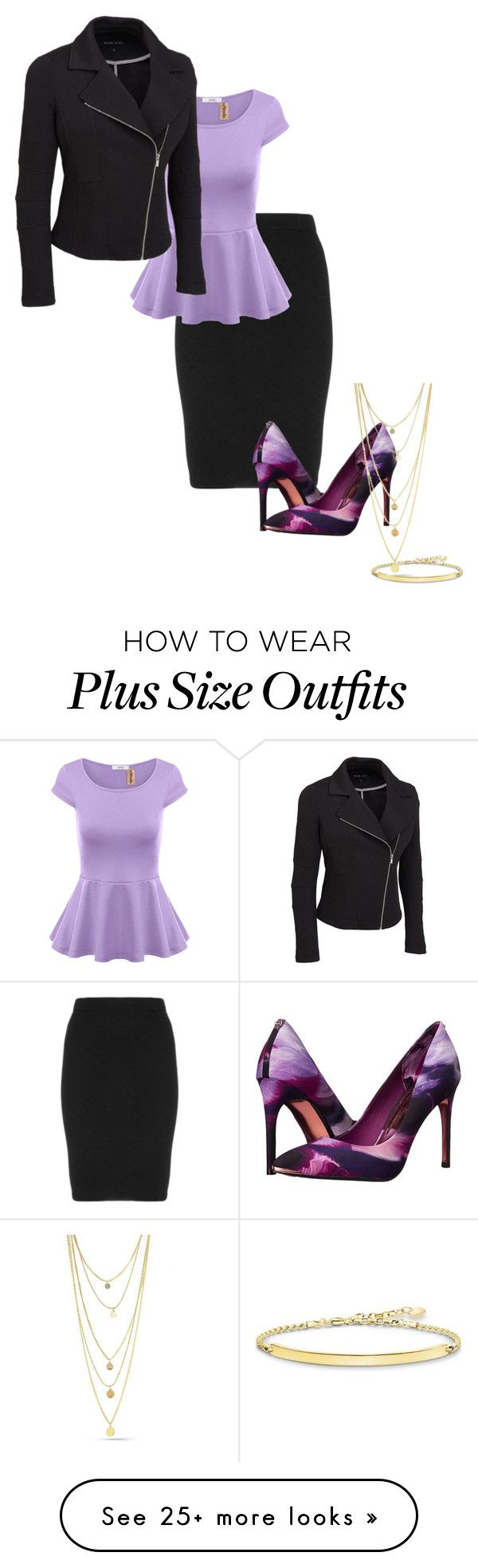 """""""Lil"""" by lavinia-goddard on Polyvore featuring Manon Baptiste, Ted Baker, Thomas Sabo, styling and plus size clothing"""