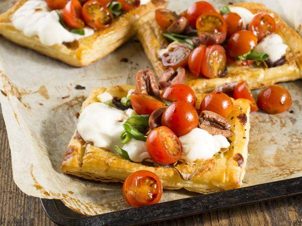 Mozzarella terte met balsemieke bolaag