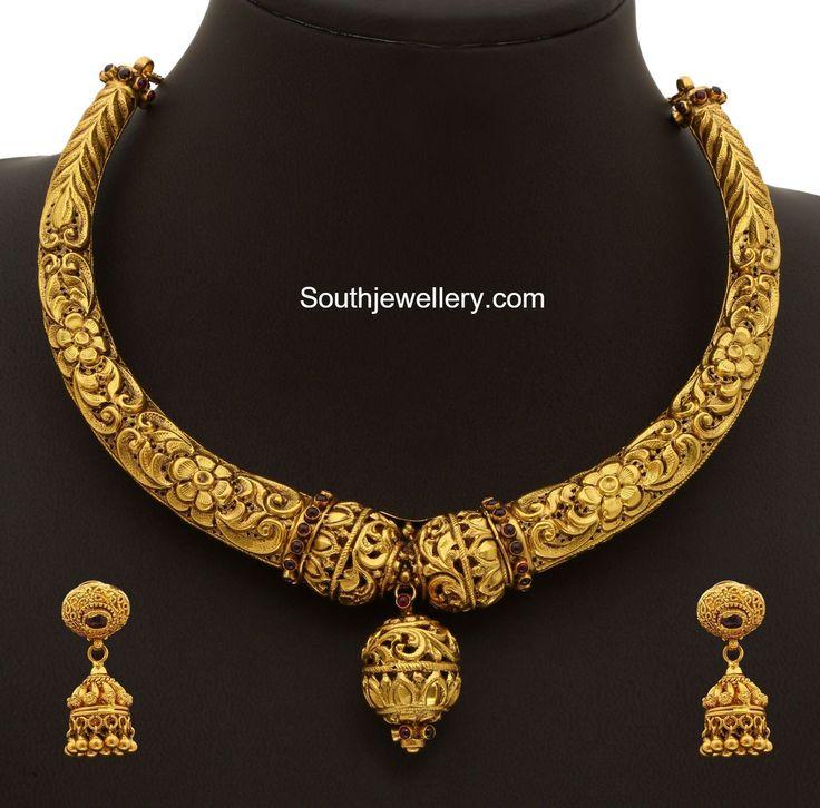 gold kanthi necklace 600x592 photo Deepika. dks Pinboard trails