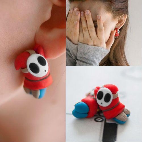 shy guy earrings