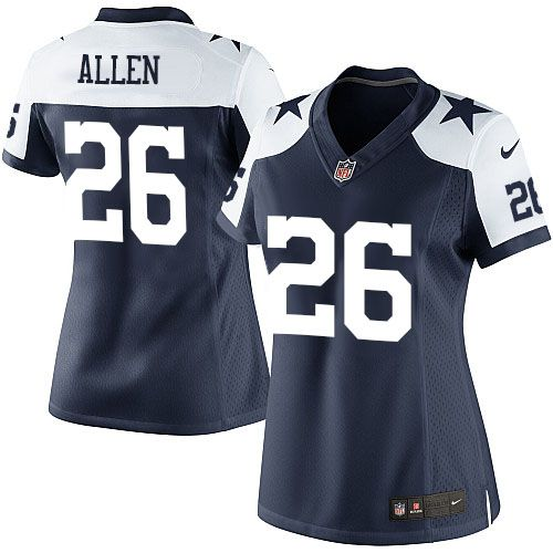 womens limited will allen jersey nike dallas cowboys 26 navy blue throwback alternate nfl jerseys save