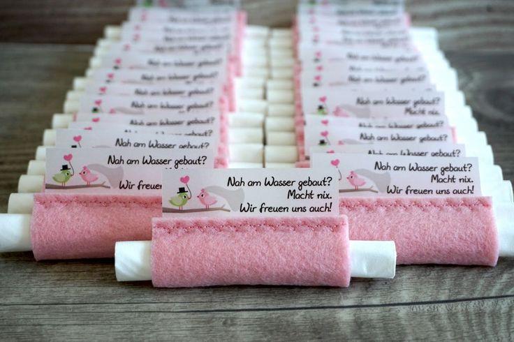Zauberhafte Freudentränen Taschentücher in der Farbe Puderrosa in einer einmal…