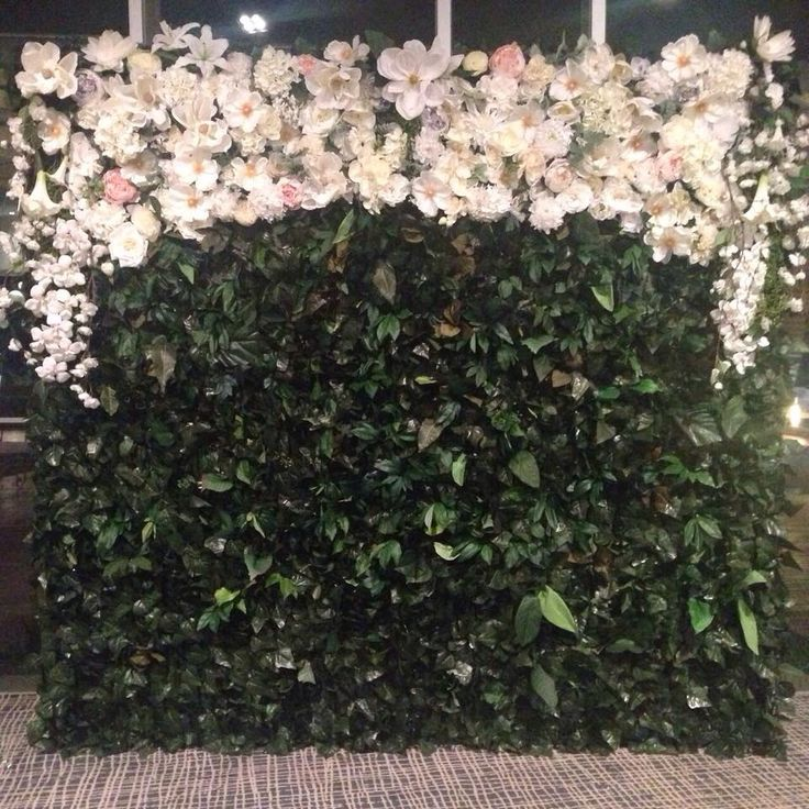 Green with Envy by night #whiteluxe #flowerwall #melbourne
