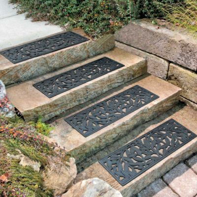 Rubber Leaf Stair Tread Set Of 4 Decorating Ideas I Like Pinterest The O 39 Jays Stairs And
