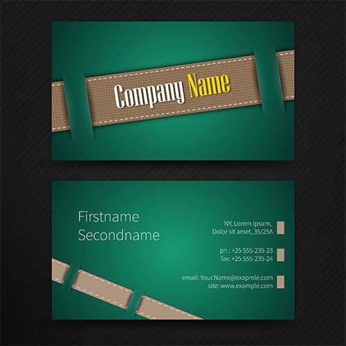 Креатив - Бесплатная визитная карточка вектор скачать