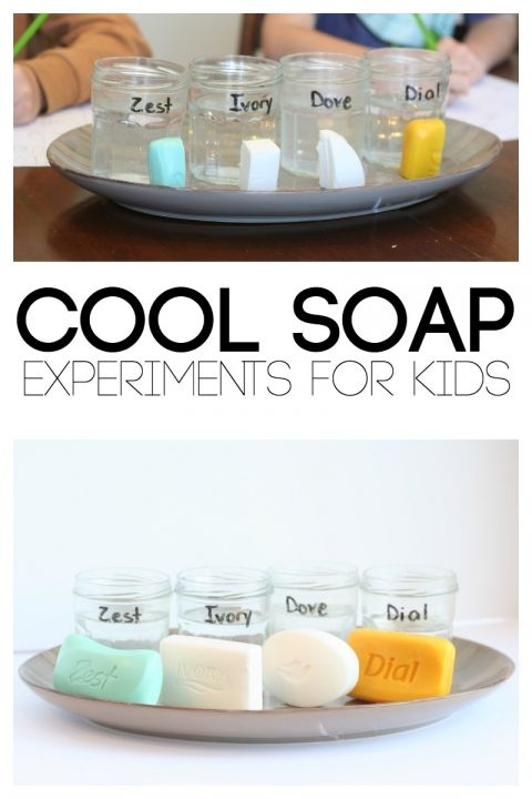 Cool soap science experiments.