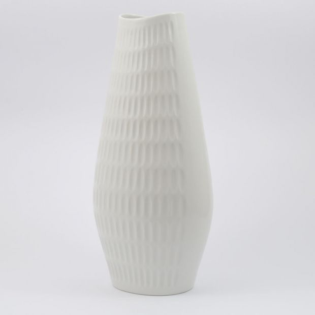 Porcelanowy wazon Schumann Arzberg | Schumann Arzberg porcelain vase | buy on Patyna.pl  #porcelain #ceramics #vase #SchummanArzberg #Arzberg #60s #70s #white #monochrome #inspiration #decoration #home #retro #vintage #Tresor #GaleriaTresor
