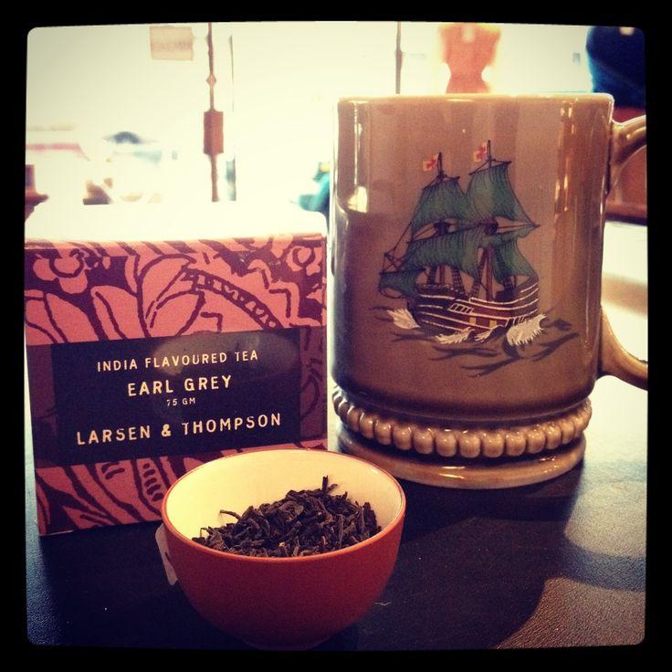 Tea and vintage mug