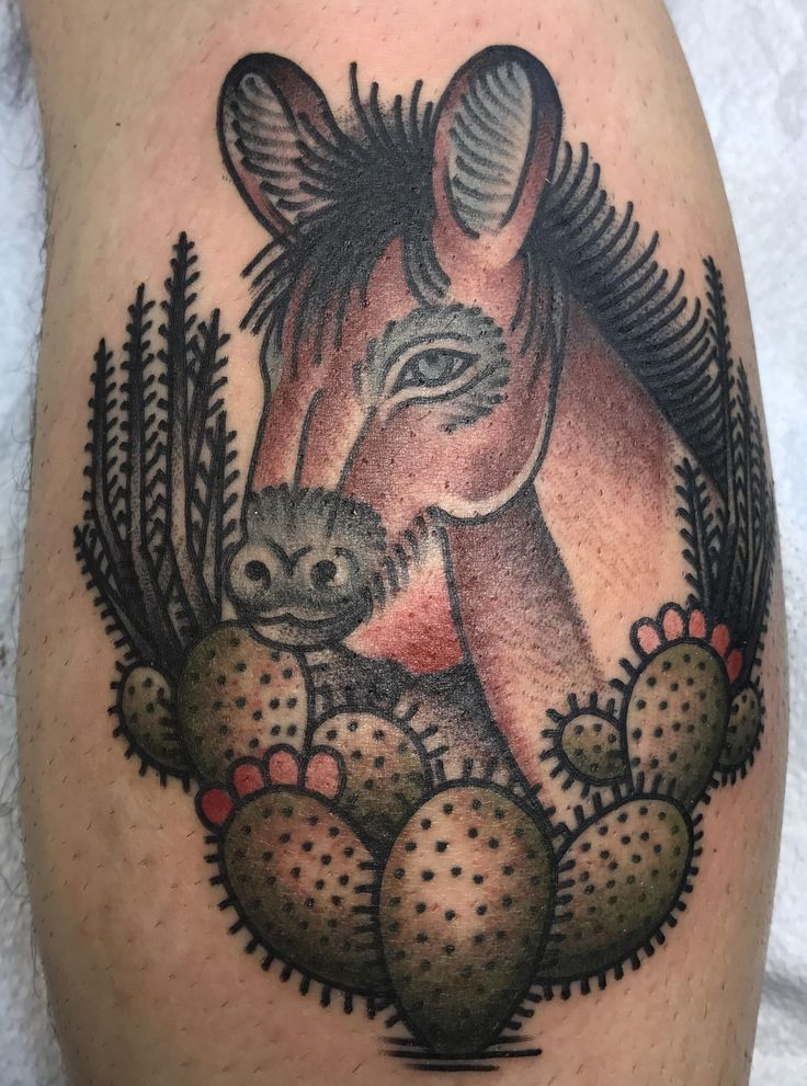 El Burro done by Marina Inoue Dedication Tattoo Denver CO