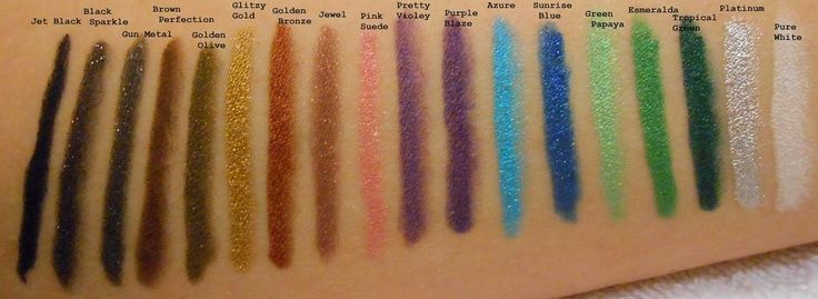 NYX Slide-On Eye Pencil swatches | incredible cosmetics in ...