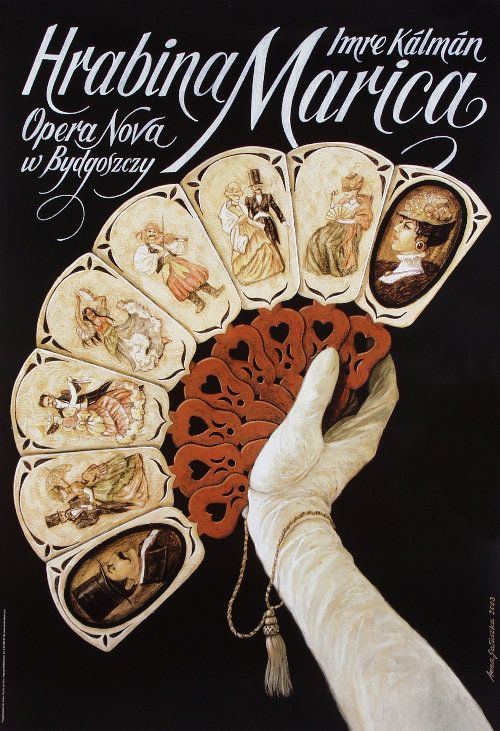 Countess Mariza - Grafin Mariza  Polish opera poster designed by Anna Galuszka
