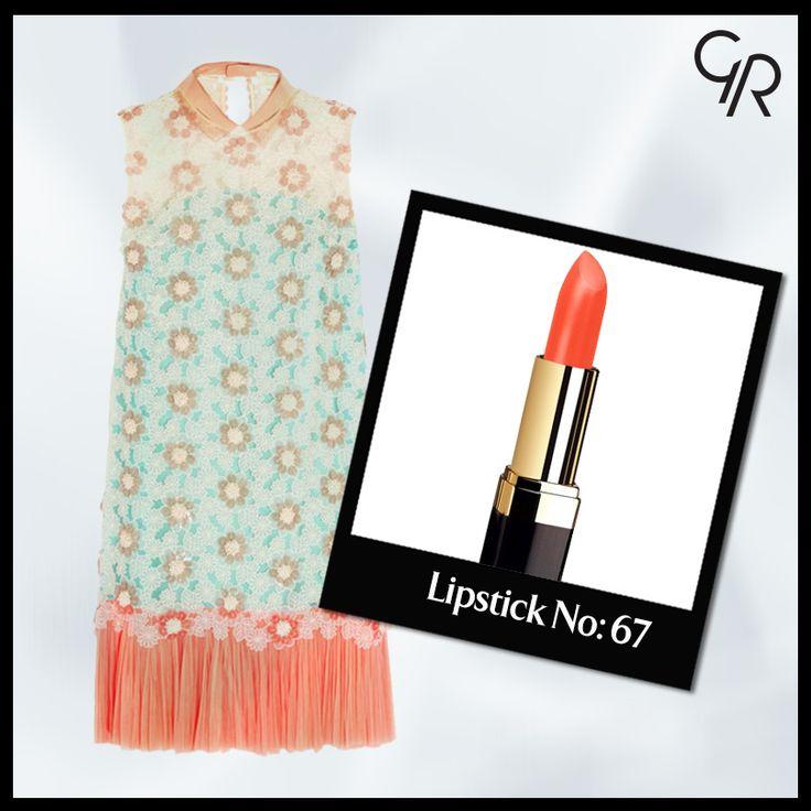 Bazen tarzına ayrıcalık katabilmen için Golden Rose Lipstick 67 numaralı mercan rengi yeter!