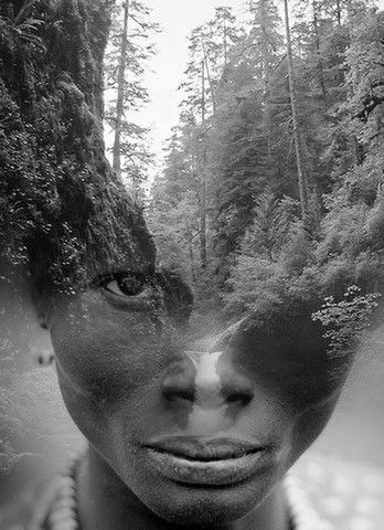 """Criaturas del bosque"" photo manipulation by Spanish-based artist © Antonio Mora (a.k.a. Mylovt) blending human and nature images into surreal hybrid artworks mylovt.com"