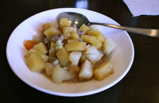 Traditional Norwegian dinner - Lapskaus