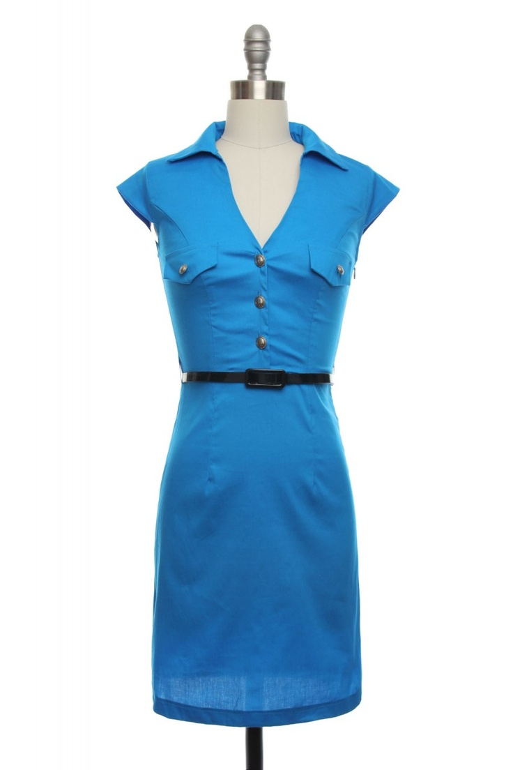 love this style: 32 99 Bluelin, Style, Dresses 32 99, Sexy Flight, Classic Dresses, Cap Sleeve, Shirts Dresses, Flight Dresses, Blue Dresses Lik
