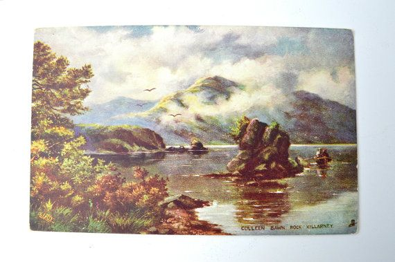 Celebrate Ireland ~ St Patrick's Day ~ Antique Post Card ~ Killarney, Ireland ~ Collen Bawn Rock ~ Tuck's Post Card #7137 ~circa 1910