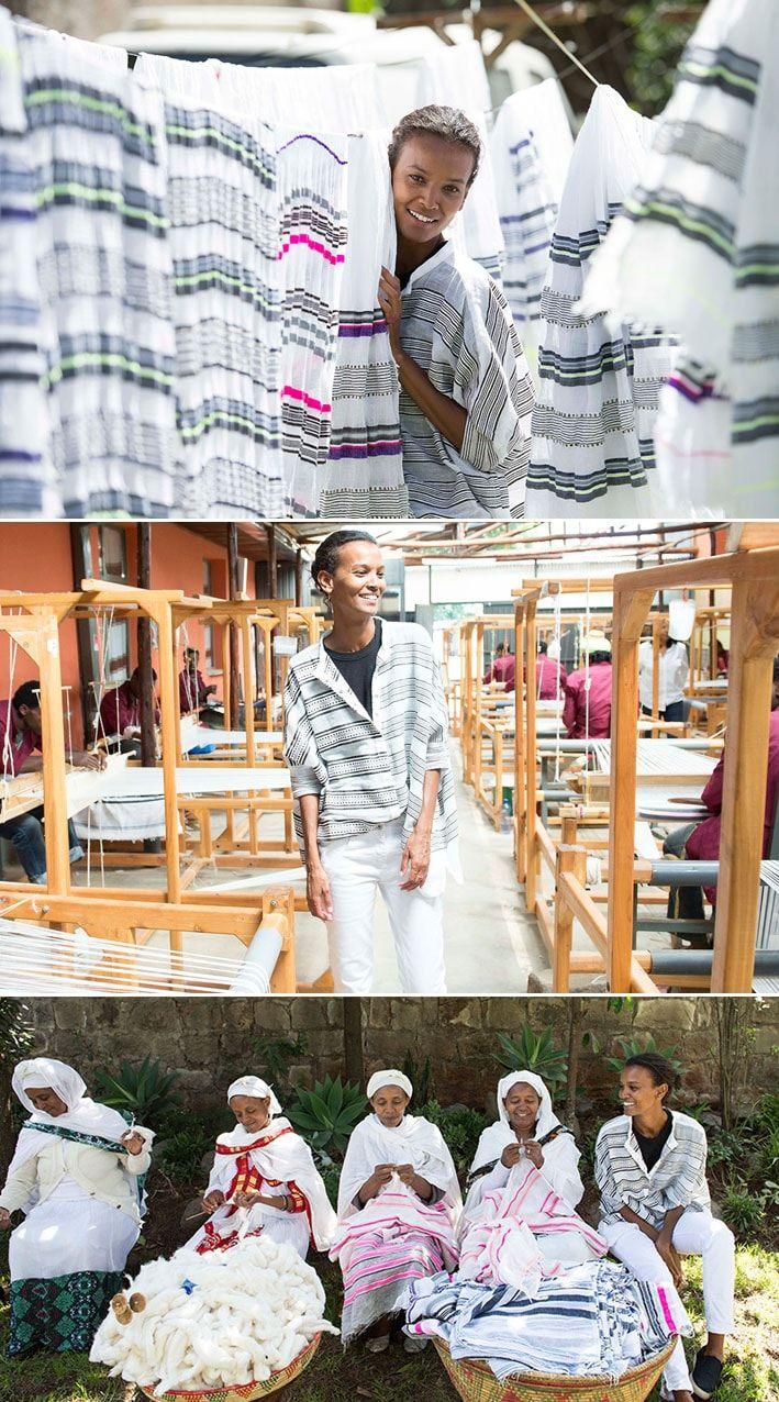 Supermodelo Liya Kebede criou marca de roupas artesanais para preservar os tecelões da Etiópia stylo urbano #moda #modelo #artesanato #tecidosartesanais #artesão