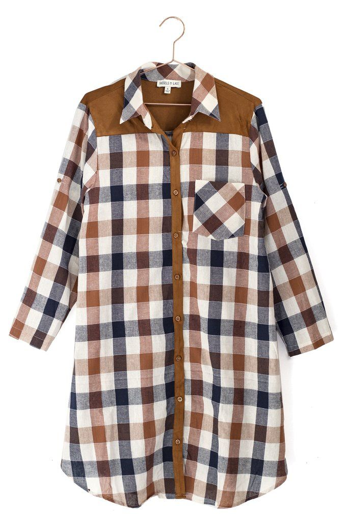 Checkered Suede Dress   #mooreaseal
