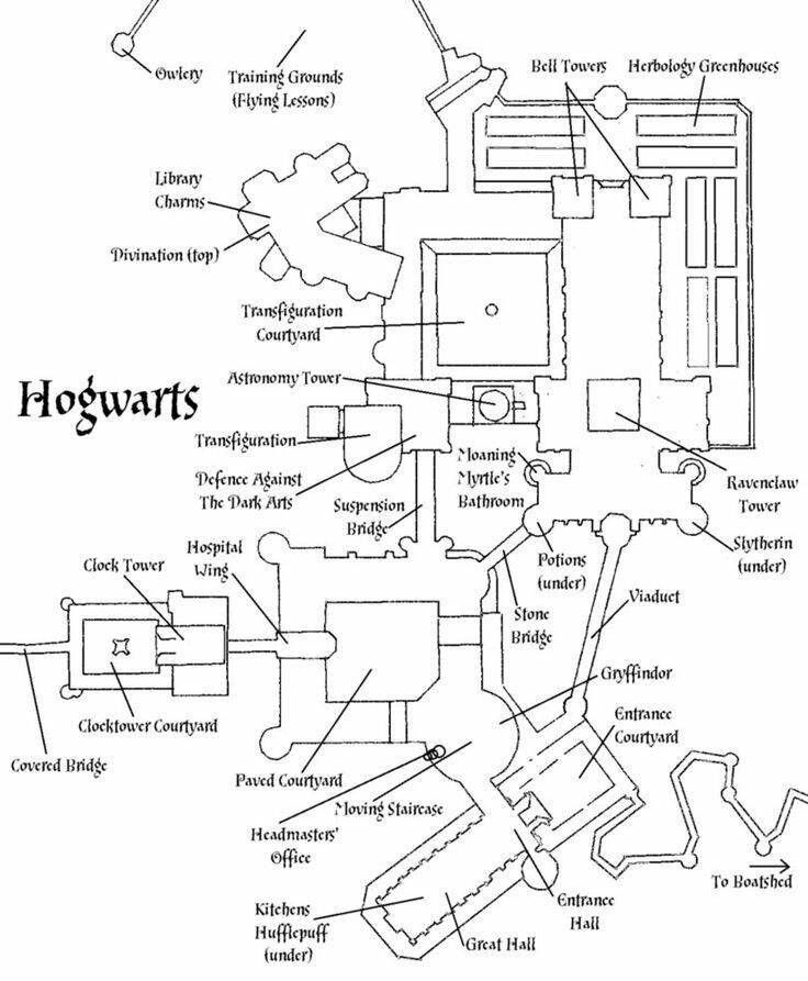 Hogwarts Floorplan In 2020 Harry Potter Book Covers Harry Potter Castle Harry Potter Minecraft