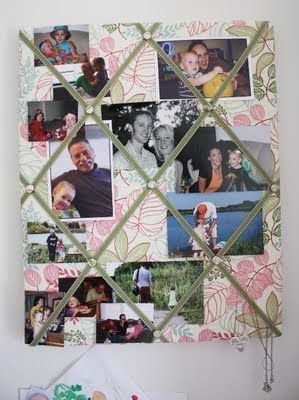 DIY French Memo Board...Don't love the colors but this could definitely be cute!  for her hair bows?