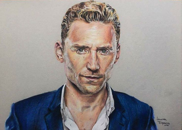 Colored Pencil drawing of Tom Hiddleston from The Night Manager!! (Filipovis Art) 🇬🇧🌃💎✍🏻💙