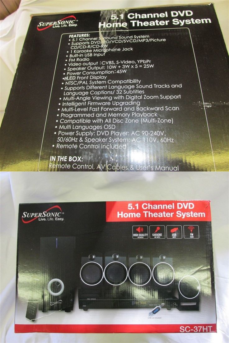 Home Theater Systems: Supersonic 5.1 Channel Dvd Home Theater System Surround System -> BUY IT NOW ONLY: $67.49 on eBay!