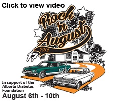 Rock'n August is a very popular International Car Show that takes place in St. Albert every year at the beginning of August.  Celebrating classic cars, retro and the sounds of the fifties and sixties proceeds of this event support the Alberta Diabetes Foundation.
