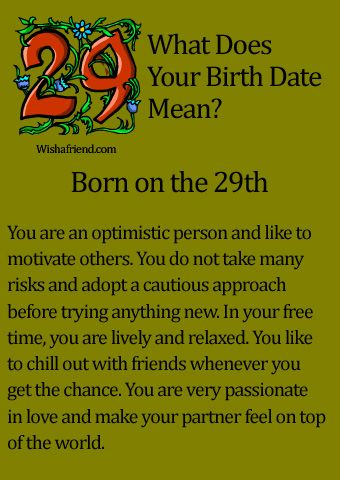 What Does Your Birth Date Mean? - Born on the 29th