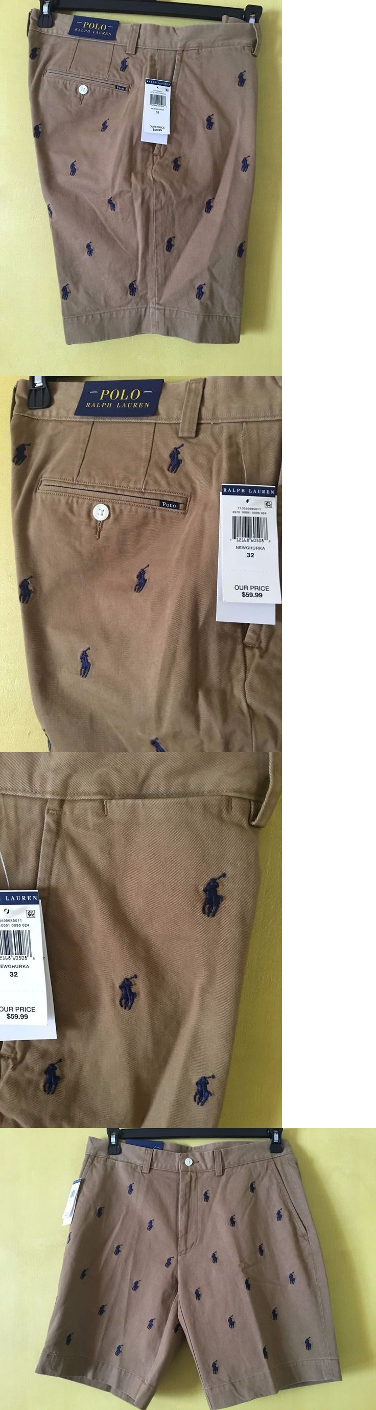 Shorts 15689: New Polo Ralph Lauren Mens Khaki Shorts Ponies All Over 34 36 38 Classic Fit 9 -> BUY IT NOW ONLY: $47.99 on eBay!