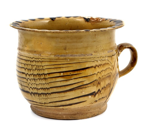 chamber pot...slipware...17th century