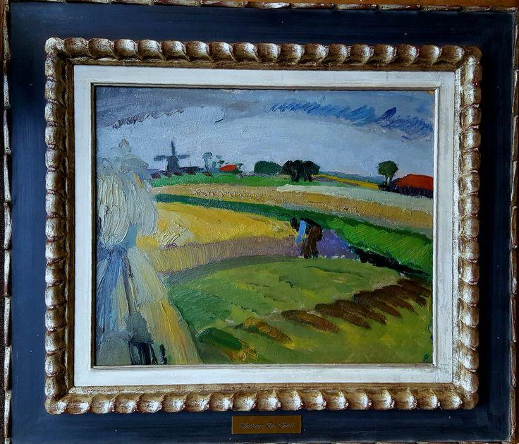 Een vroeg werk van Gustave De Smet. Een ver familielid uit Vlaanderen waar mijn roots liggen. Het boerenleven heeft de schilder zijn hele leven geboeid.