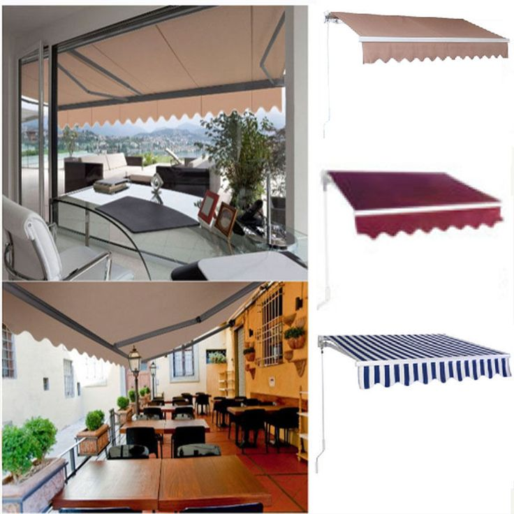 Manual Patio Retractable Deck Awning Sunshade Shelter Canopy Outdoor New #Unbranded