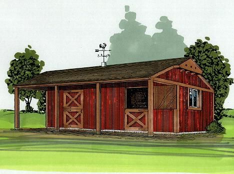 30 best livestock shelters or barns images on pinterest for 2 stall horse barn kits