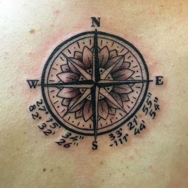 Image result for latitude longitude tattoos