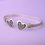 Celtic Heart Bangle Bracelet: Celtic Jewelry