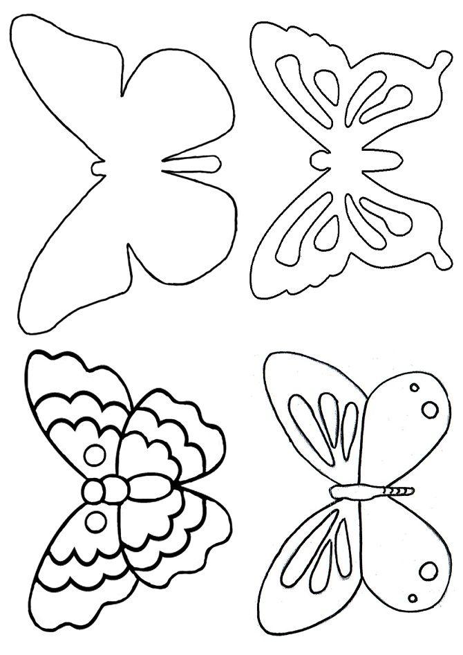День влюбленных, шаблон бабочки открытка