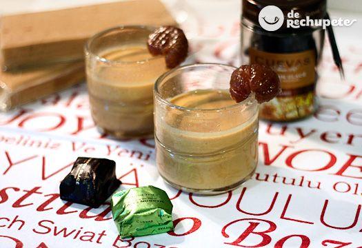 Recetas de postres y dulcesRecetas para ocasiones especiales  Natillas de turrón y crema de castañas.