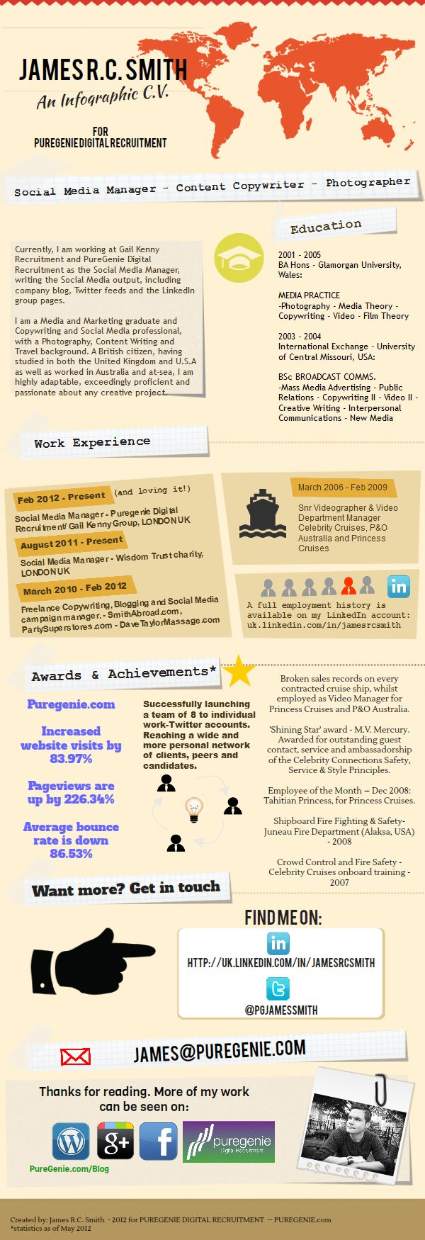 41 best CV images on Pinterest | Career, Cv template and Resume