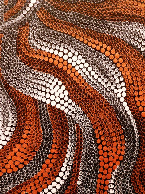 art & australian indigenous simple and stunning - it's just color, value, and size that create the differences here. so much movement and depth!