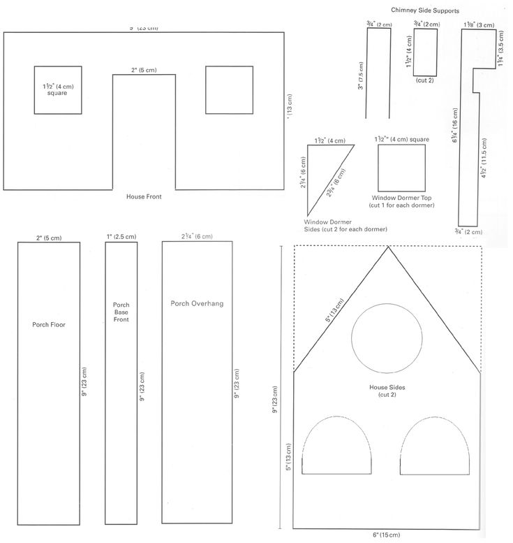 christmas house templates | had also made a list of things that I would need to make the ...