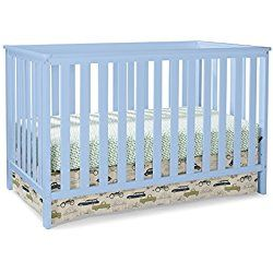 Stork Craft Rosland 3 in 1 Convertible Crib, Sky Blue