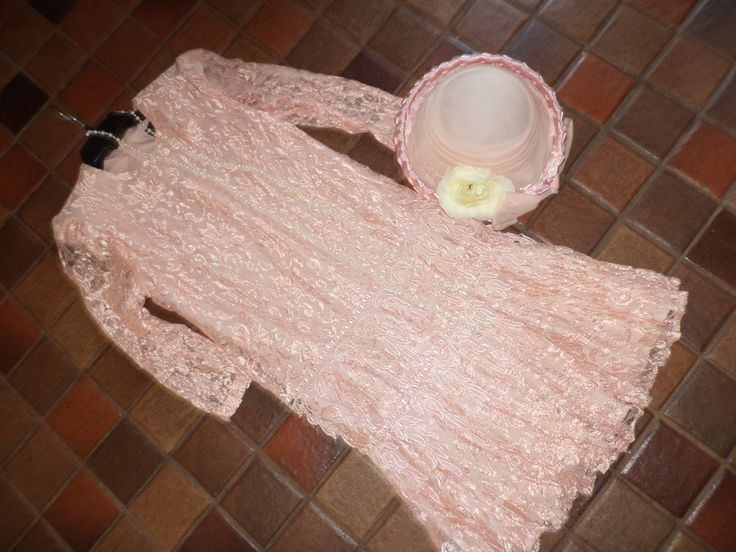 1920's  flapper Halloween costume GATSBY rose lace dress cloche hat womens size 5/6 deco jazz acessories included theater costume by RestyledCostumes on Etsy